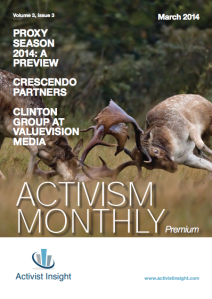 Activism Monthly, March 2014