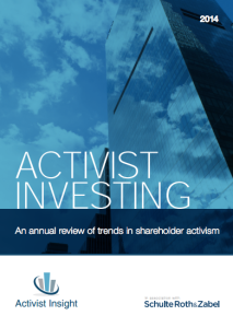 Activist Investing Annual Review 2014